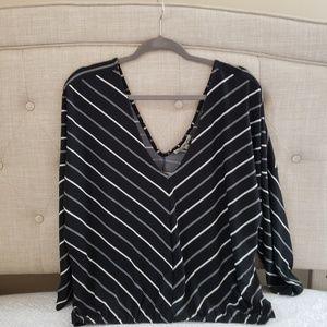 Express stripe blouse size x-large